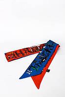 Узкие шарфы FAMO Шарф Фона красно-синий 93*5 (G-1901) #L/A
