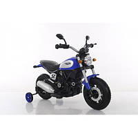 Детский электромобиль мотоцикл на надувных колесах T-7226 AIR WHEEL BLUE