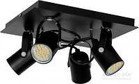 Спот LUMINEX Mark 4x40 Вт GU10 черный 7019 T31325209