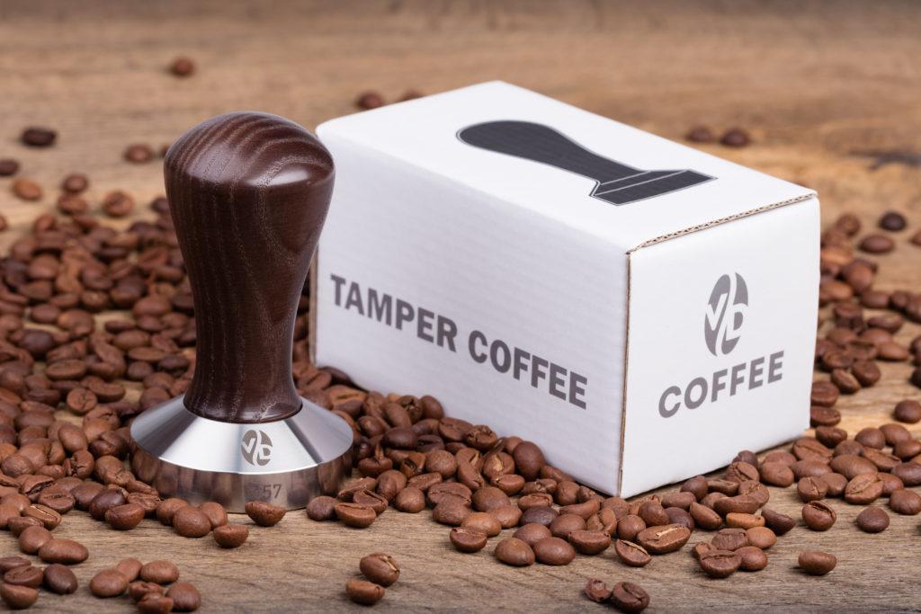 "Темпер для кофе 58 мм VD coffee ""Classic"" коричневый"