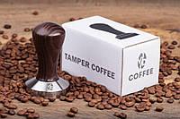 "Темпер для кофе 58 мм VD coffee ""Classic"" коричневый, фото 1"