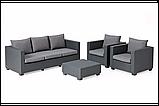 Набор садовой мебели Salta 3-Seater Sofa Set Graphite ( графит ) из искусственного ротанга (Allibert by Keter), фото 6