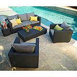 Набор садовой мебели Salta 3-Seater Sofa Set Graphite ( графит ) из искусственного ротанга (Allibert by Keter), фото 5
