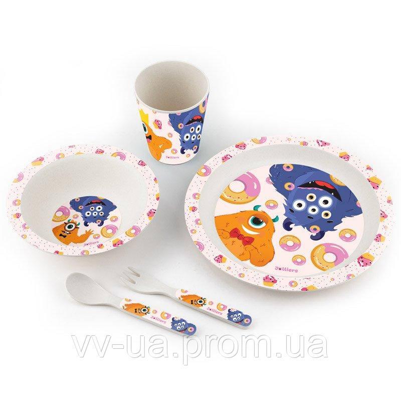 Набор посуды из бамбука Kite Jolliers, 5 предметов (K19-500)