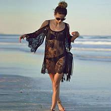 Эротическое платье. Пляжная накидка. Прозрачное парео.