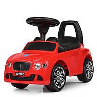Детская каталка-толокар Bentley с кожаным сиденьем M 4130L-3 красный