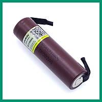 Li-ion аккумулятор высокотоковый  18650 3.6V 3000mah (с клеммами) Liitokala HG2
