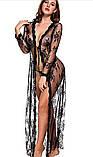 Кружевной эротический длинный халат, фото 6