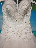 Белое Свадебное  платье 42-44-46 размер б/у