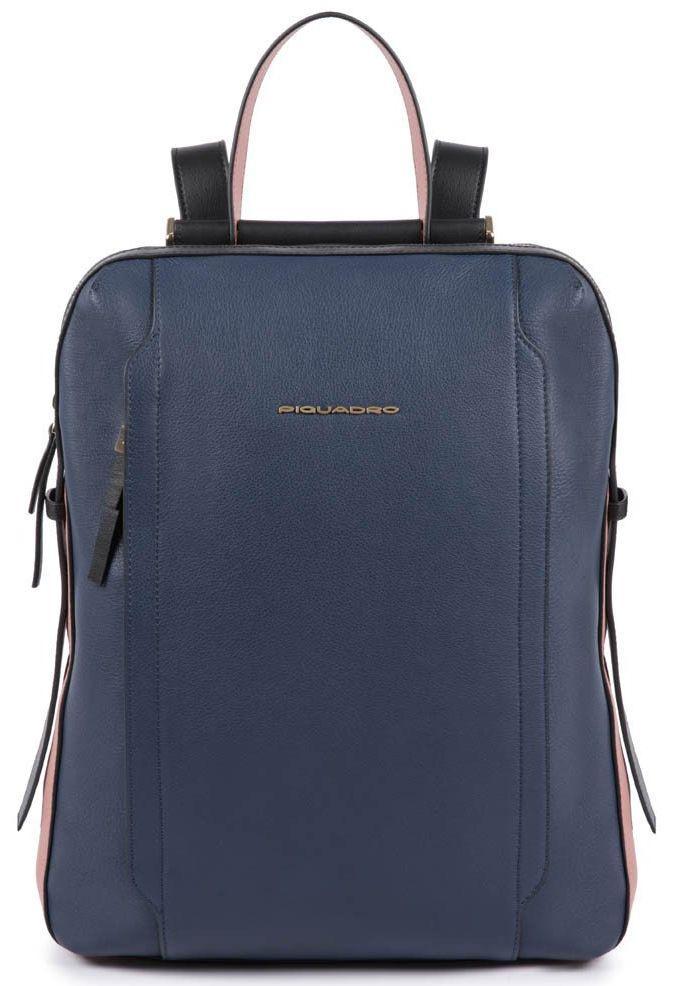Кожаный городской рюкзак Piquadro Circle синий 12 л