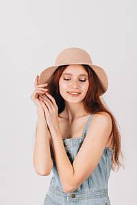 Широкополая шляпа FAMO Шляпа широкополая Макарио пудровая 54 (SHL-1945) #L/A