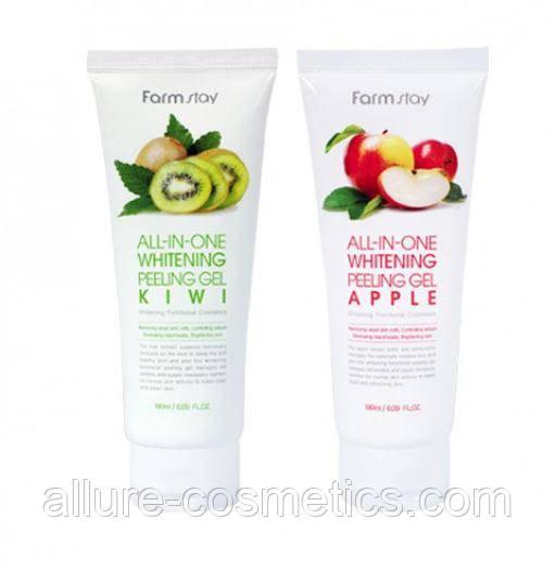Пилинг-скатки для лица FARM STAY All In One Whitening Peeling Gel Cream Apple / Kiwi
