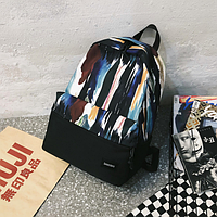 Рюкзак черный с принтом, фото 1
