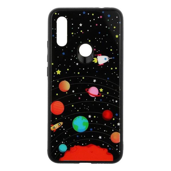 Накладка для Xiaomi Redmi 7 TOTO Glass Fashionable Case Star Space