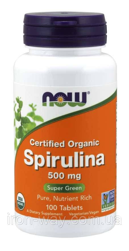 Now Spirulina 500 mg 100 tab