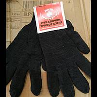 Перчатки трикотажные для хозяйственных работ теплые черные, фото 1