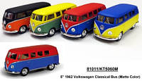 "Модель автобус 5"" KT5060WM 1962 Volkswagen Classical Bus (Matte) метал.инерц.1:38 кор./96/"
