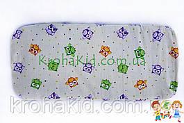 Матрасик в детскую коляску кокос-поролон 80х38 см