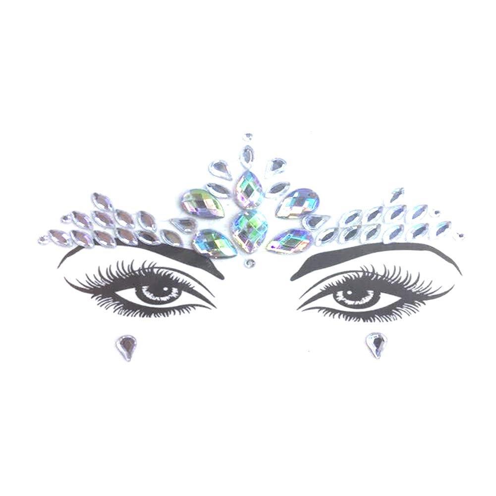Стразы-наклейки для макияжа и боди-арта 2