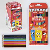 Карандаши цветные С 37112 (24) /ЦЕНА ЗА БЛОК/ 12шт в упаковке