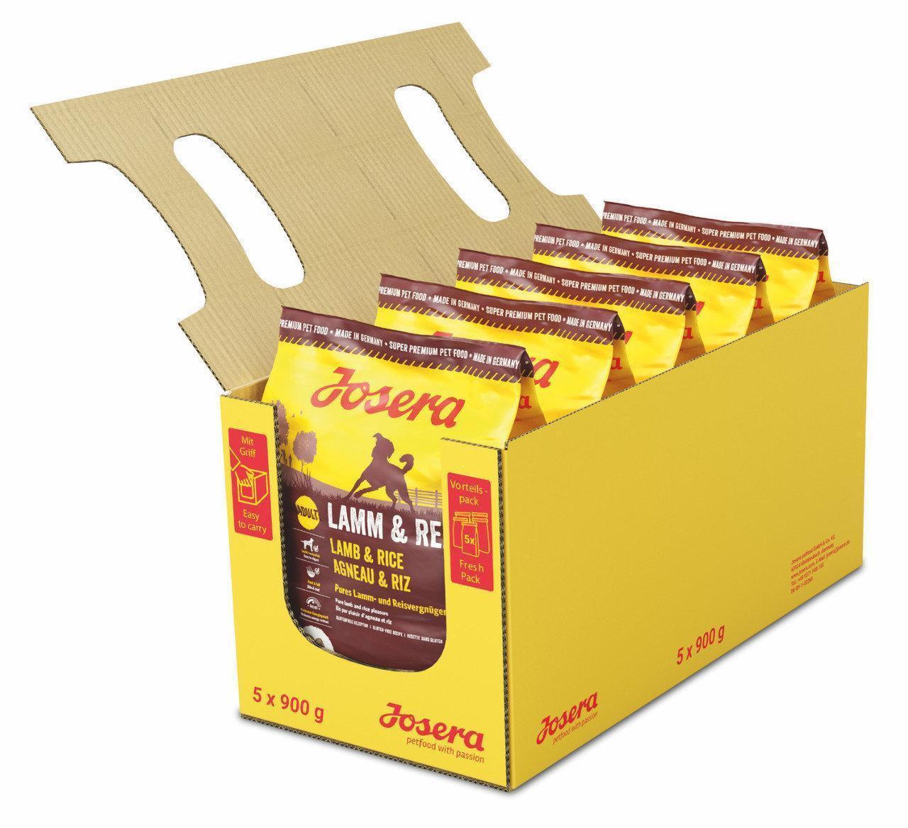 Josera Lamb and Rice 4,5 кг, корм для средних и крупных собак с ягненком и рисом