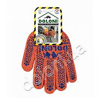 Рукавички трикотажні робочі Долоні, 526, помаранчеві з точкою