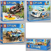 "КонструкторSY6957 (Аналог Lego City) ""Автомобили Сити"" 4 вида82+ деталей"