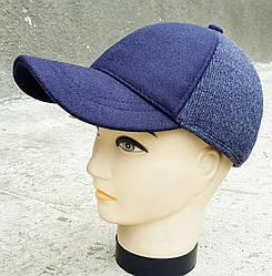 Мужская демисезонная кепка Klaus Полушерсть Синяя(380 МД) XL