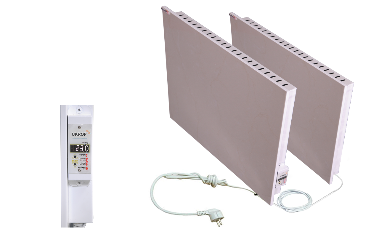 Керамічний біо-конвектор з програматором UKROP БІО-ДО 1500ВП (комплект: К750ВП + кабель 6м + К750)