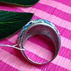 Роскошное серебряное кольцо с голубой и белой эмалью - Кольцо с эмалью серебро, фото 5
