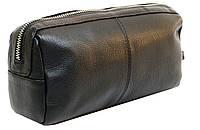 Косметичка дорожная кожаная Always Wild Черный 12121-Cosmetic Pouch, КОД: 981796