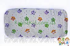 Ортопедический кокосовый матрасик в детскую коляску (вкладыш) 80х38 см, фото 3