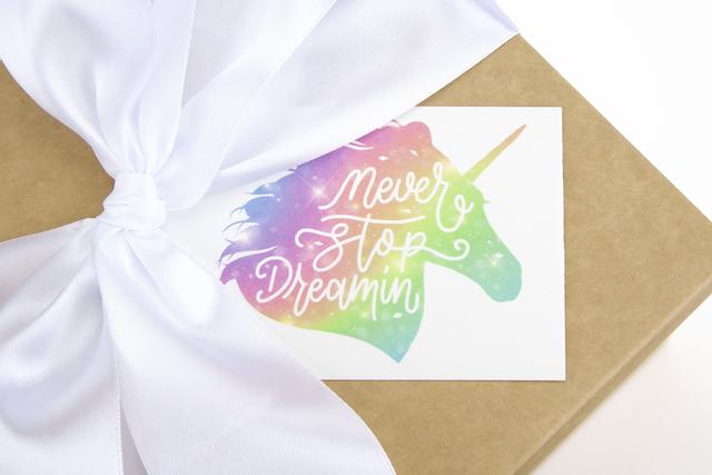 Мини-открытка односторонняя печать