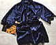 Женский атласный халат с поясом, фото 5