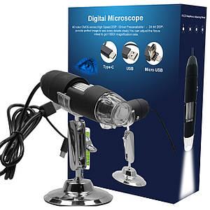 Цифровой микроскоп 3в1 Inskam-302 USB,Micro-usb,Type-C 2.0mp 1000X 1920х1080P