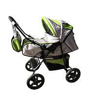 Детская коляска-трансформер Trans Baby Dolphin, салатовый+металик