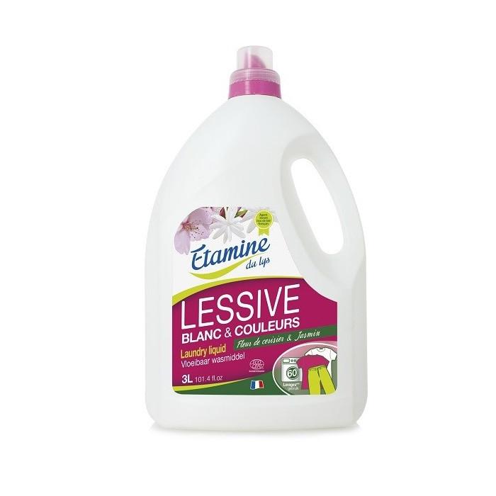 """Жидкий стиральный порошок """"Цветок вишни и жасмин"""" органический Etamine du Lys,3л"""