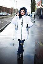 Стильная  зимняя женская куртка  со змейками по бокам  батал с 52 по 82 размер, фото 3