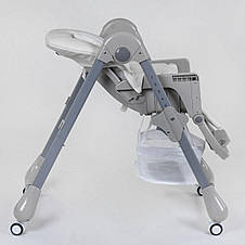 Стульчик для кормления toti серый, фото 3