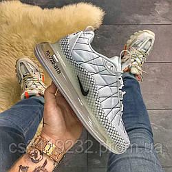 Мужские демисезонные кроссовки Nike Air Max 720-98 Gray Clear Sole(термо) (серые)