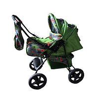 Детская коляска-трансформер Trans Baby Dolphin, абстр.+яблоко
