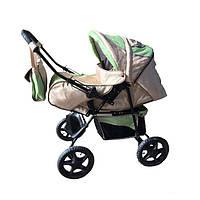 Детская коляска-трансформер Trans Baby Dolphin, салатовый+т.молоко