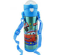 Детский термос с трубочкой поилкой 500 мл, для мальчика Тачки Маквин McQueen Disney