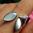 Модное серебряное кольцо с перламутром - Брендовое кольцо с перламутром, фото 5