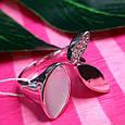 Модное серебряное кольцо с перламутром - Брендовое кольцо с перламутром, фото 2