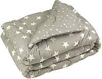 """Одеяло Руно зимнее шерстяное """"Grey star"""" 200х220 в Бязи, фото 1"""