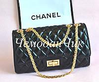 Женская брендовая сумка стегеная черная