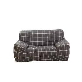Чехол на кресло диван натяжной Stenson R26298 90-145 см Коричневый 008831, КОД: 1049922