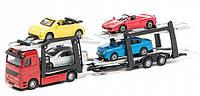 Ігровий набір Технопарк - АВТОПЕРЕВІЗНИК (автоперевізник, 4 легкові машинки), фото 1