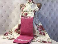 Фартук кухонный с полотенцем сухая роза
